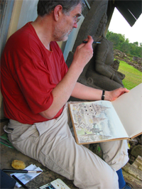 David Green Drawing in Indonesia